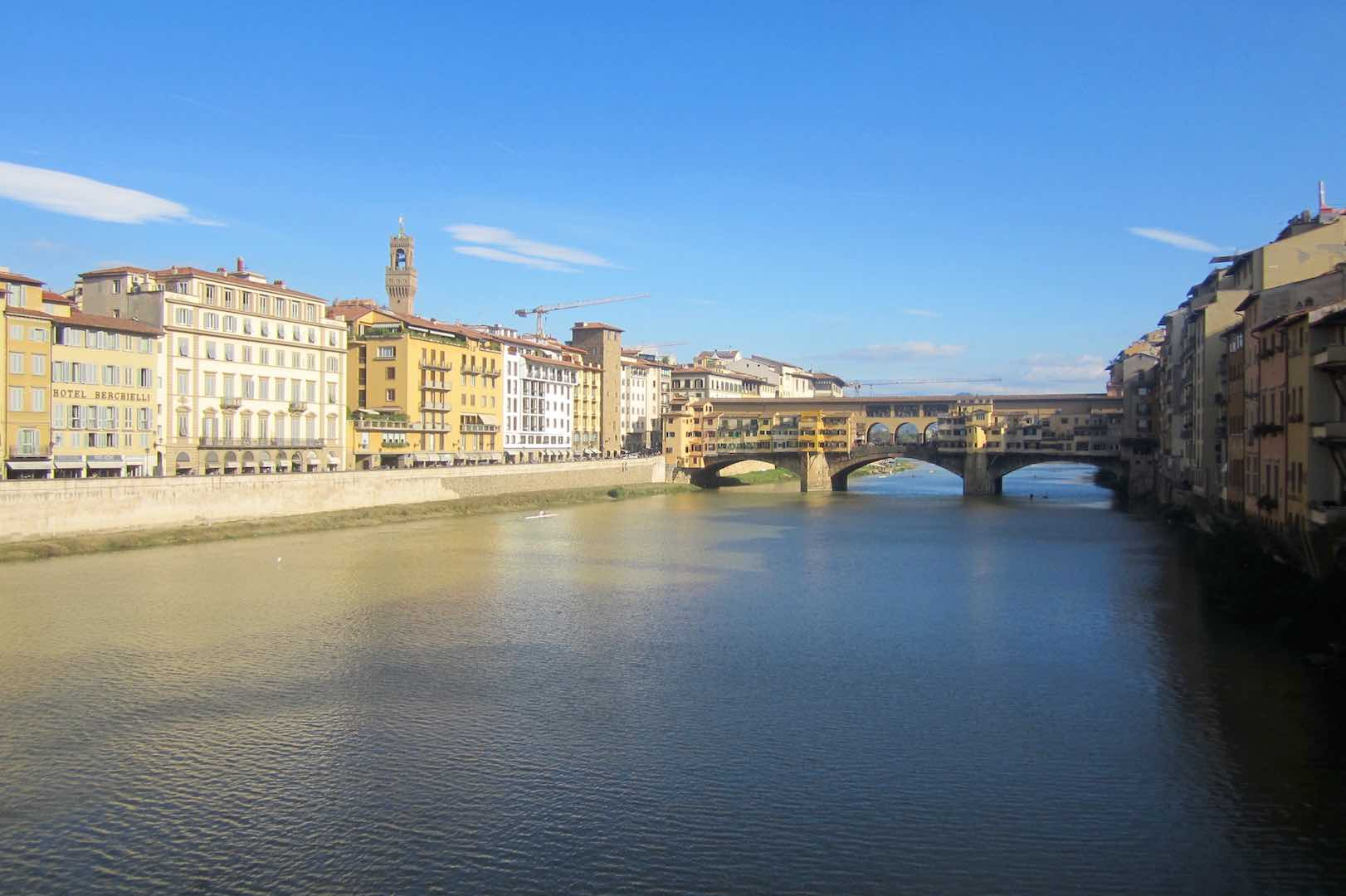 Florence, l'Arno, le Ponte Vecchio. ©M. Calvo.