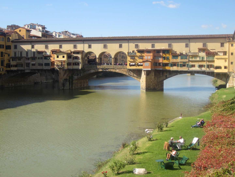 El Ponte Vecchio sobre el río Arno, en Florencia. ©M. Calvo.