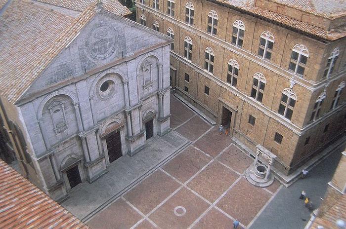 Piazza Pie II, le centre de Pienza.