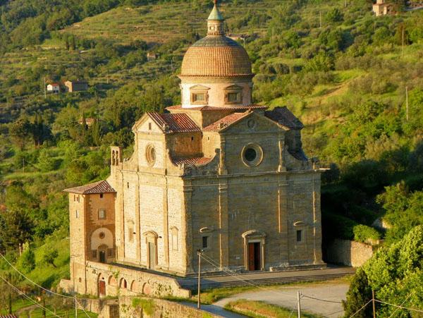 Eglise de Santa Maria Nuova à Cortone.