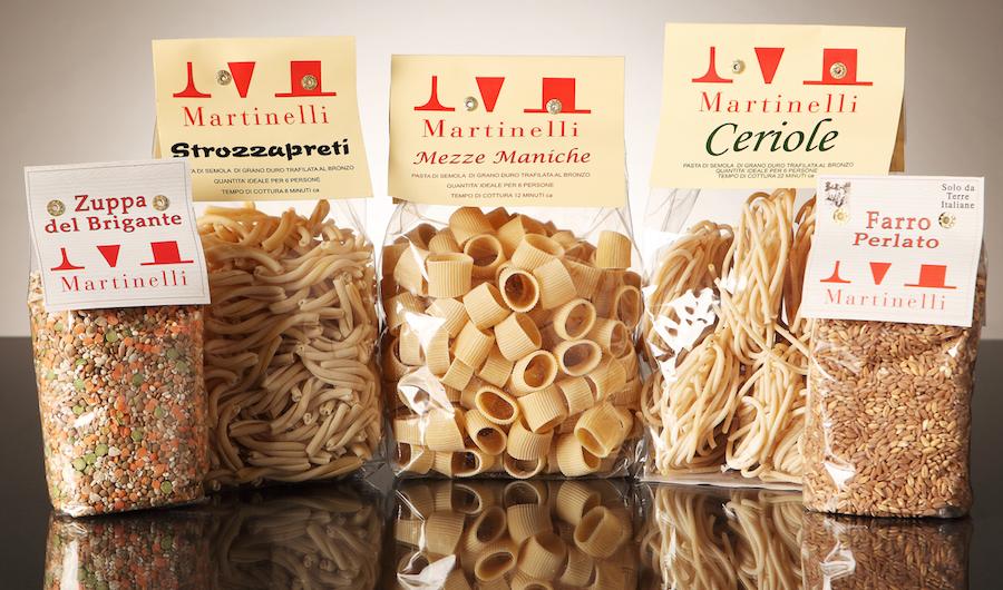Pâtes BIO Martinelli, un des spécialités locales.