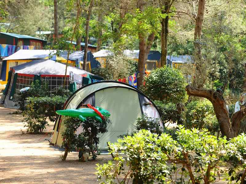 Camping en Toscane.