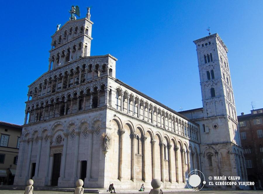 Ëglise de San Martino in Fori, à Lucques. Un bel exemple du style Roman Pisan. ©María Calvo.