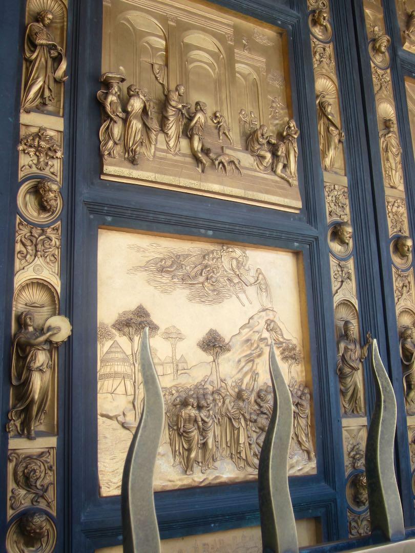 La Porte du Paradis, dans le baptistère, sur la place de la cathedrale. ©M. Calvo.