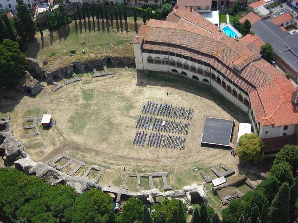 Amphiteatre romain d'Arezzo.