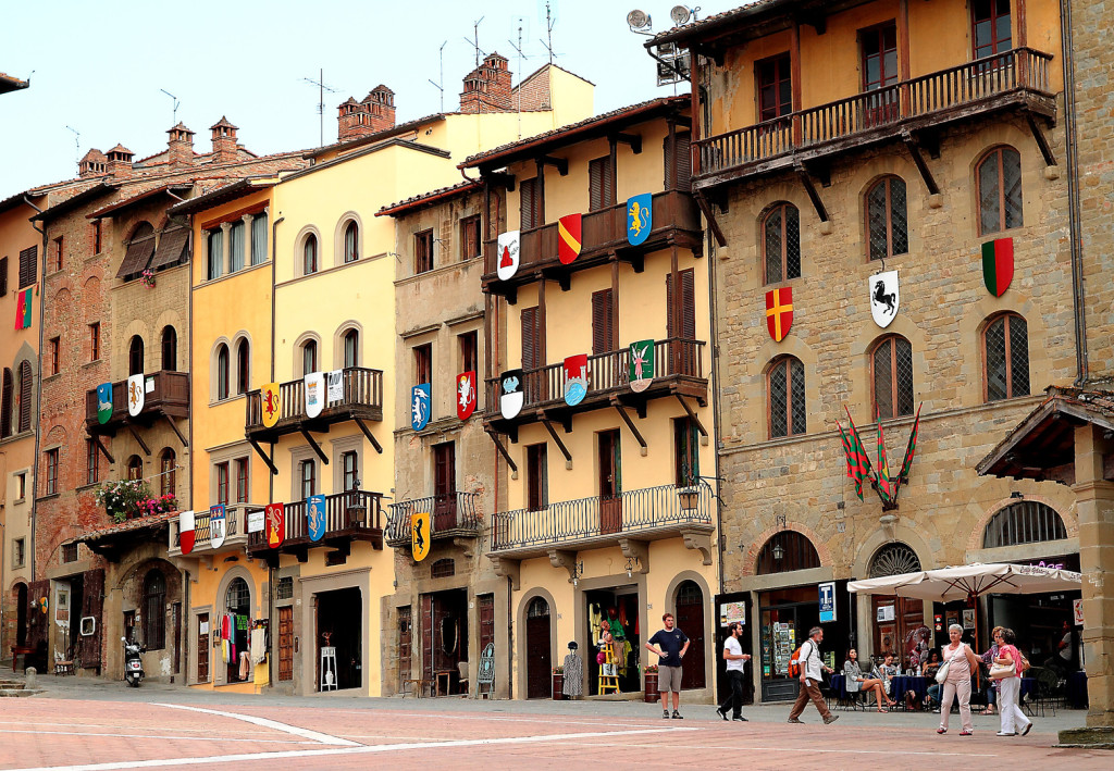 Piazza Grande, le centre d'Arezzo.